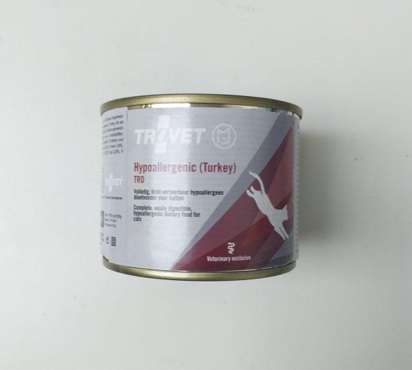 TROVET TRD Hypoallergenic Turkey puszka 200g kot